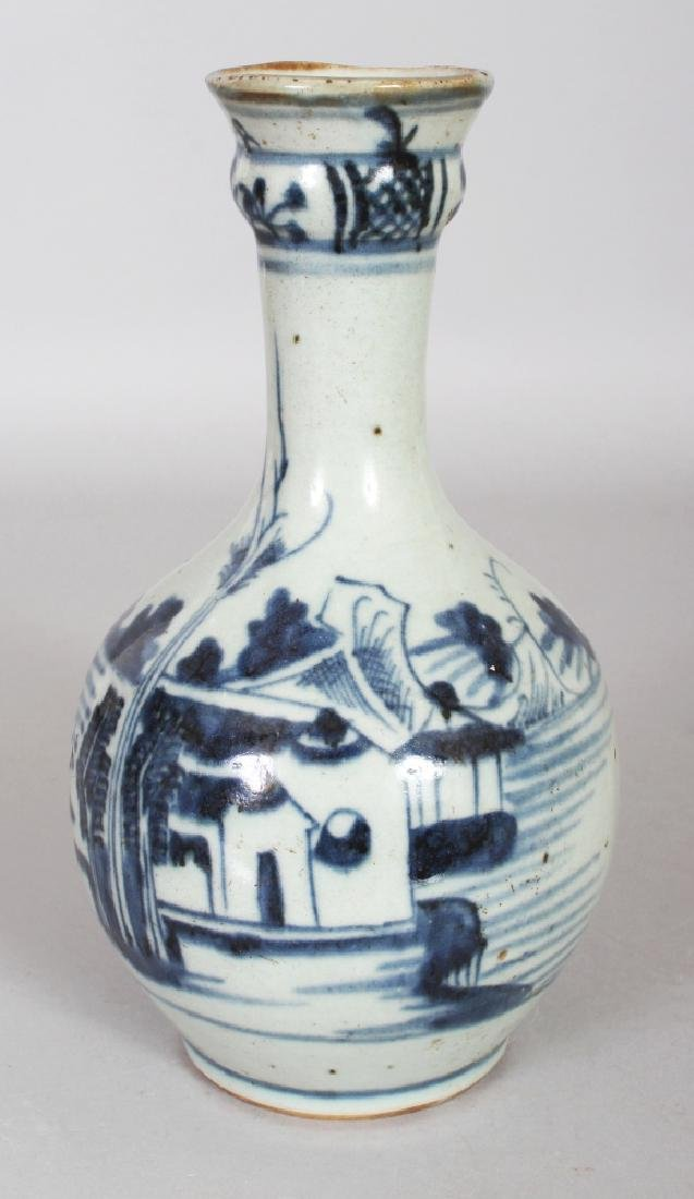AN 18TH CENTURY CHINESE BLUE & WHITE PROVINCIAL