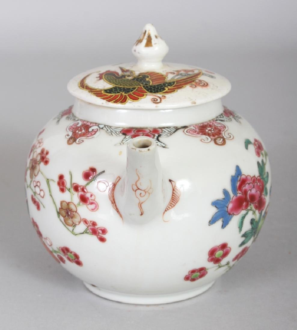 AN 18TH CENTURY CHINESE FAMILLE ROSE PORCELAIN TEAPOT, - 2