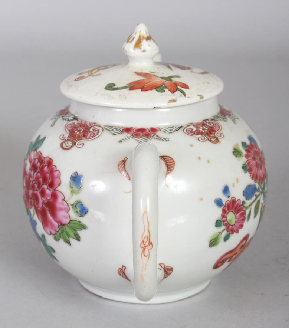 AN 18TH CENTURY CHINESE FAMILLE ROSE PORCELAIN TEAPOT, - 4