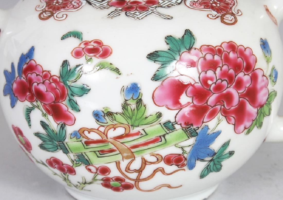 AN 18TH CENTURY CHINESE FAMILLE ROSE PORCELAIN TEAPOT, - 5