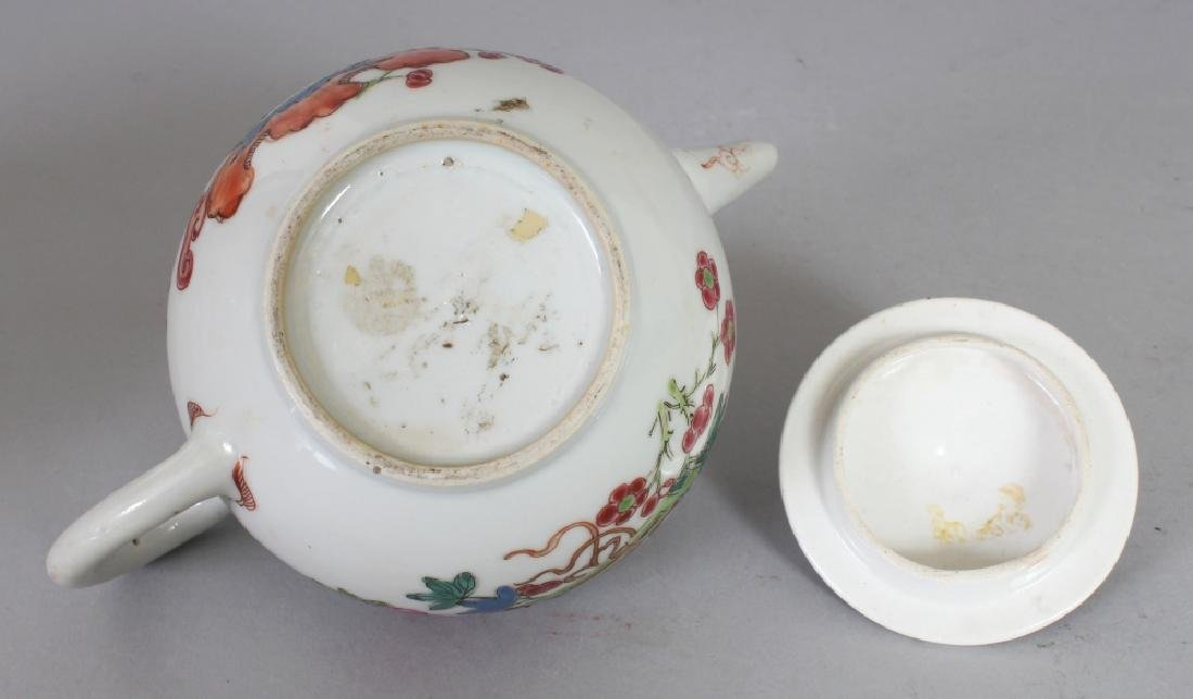 AN 18TH CENTURY CHINESE FAMILLE ROSE PORCELAIN TEAPOT, - 7