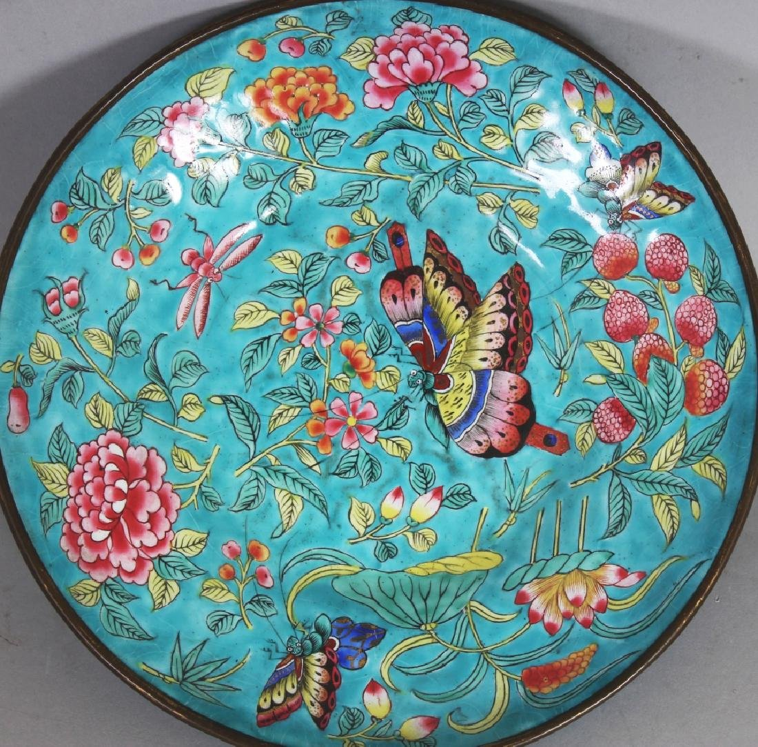 A 19TH CENTURY CHINESE TURQUOISE GROUND FAMILLE ROSE - 7
