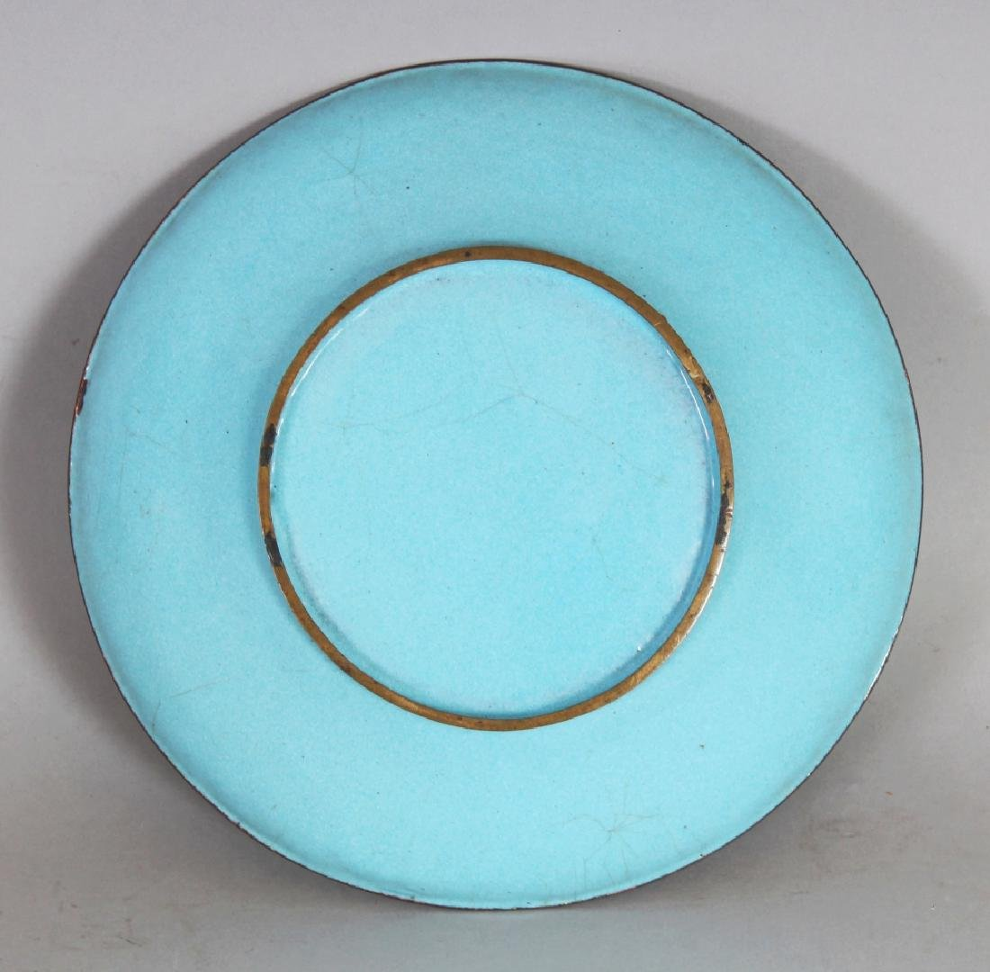 A 19TH CENTURY CHINESE TURQUOISE GROUND FAMILLE ROSE - 8