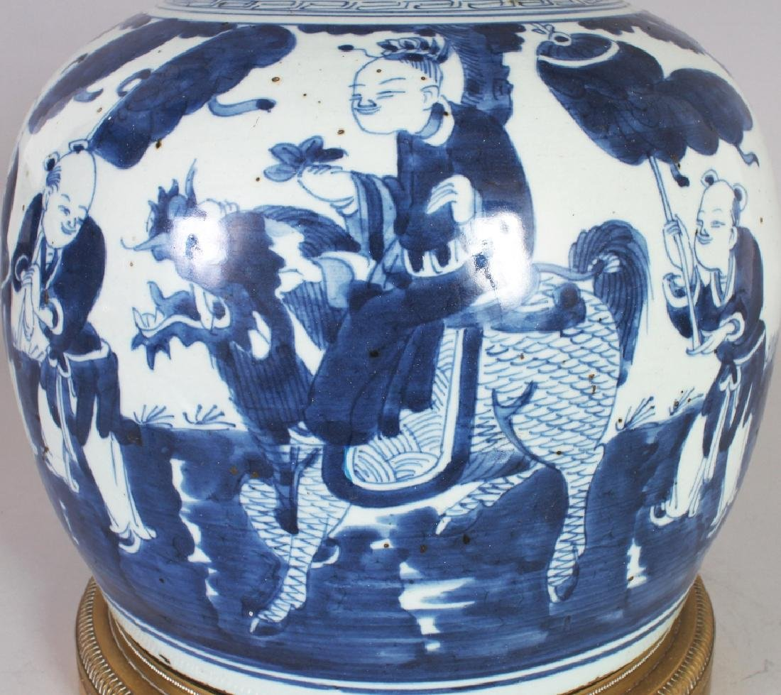 A LARGE 19TH/20TH CENTURY CHINESE BLUE & WHITE - 3