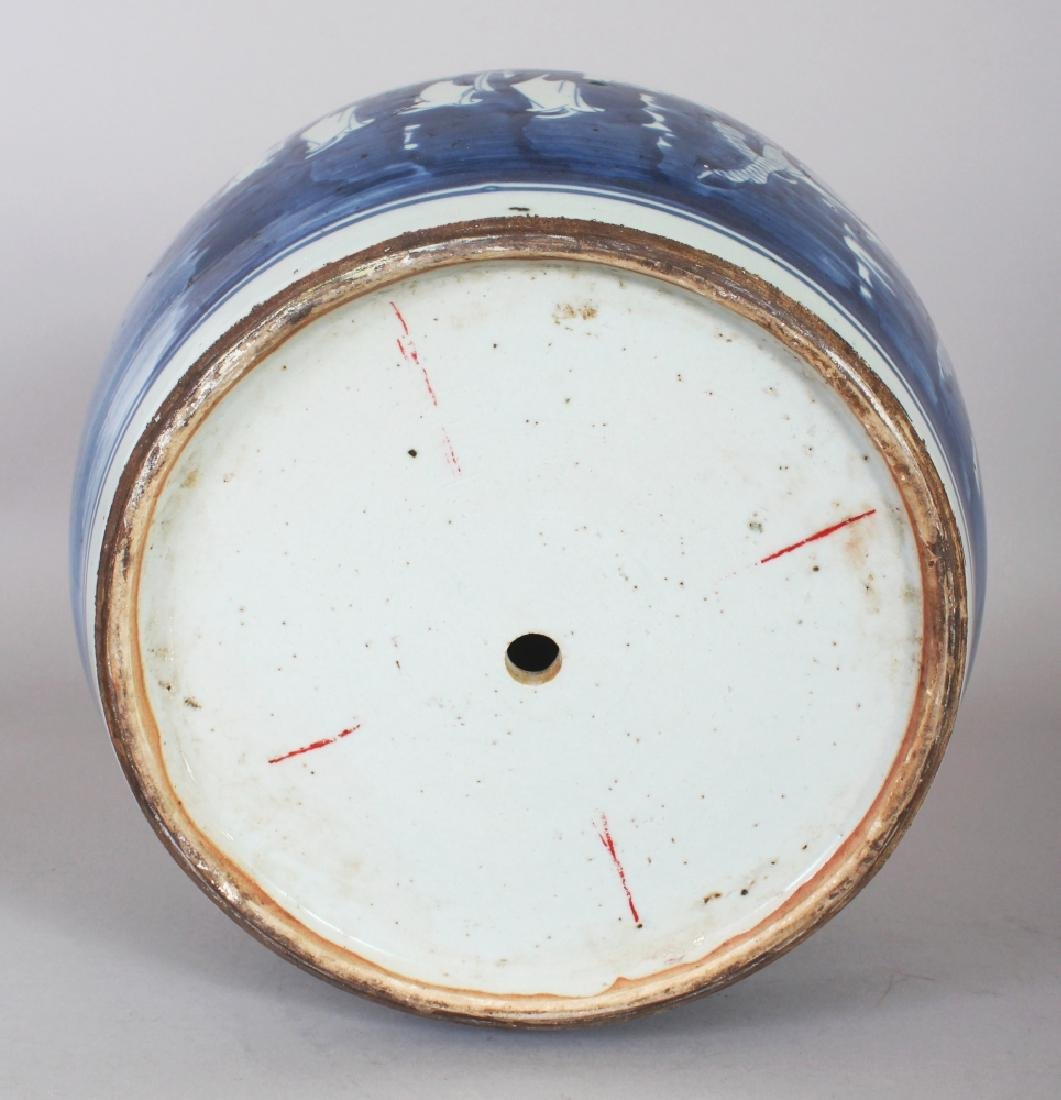 A LARGE 19TH/20TH CENTURY CHINESE BLUE & WHITE - 5