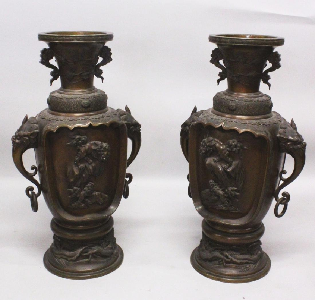 A LARGE PAIR OF GOOD QUALITY JAPANESE MEIJI PERIOD