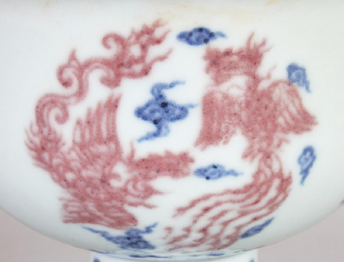 A CHINESE MING STYLE COPPER-RED & UNDERGLAZE-BLUE - 3