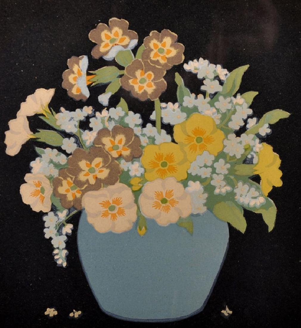 John Hall Thorpe (1874-1947) Australian. Primulas and