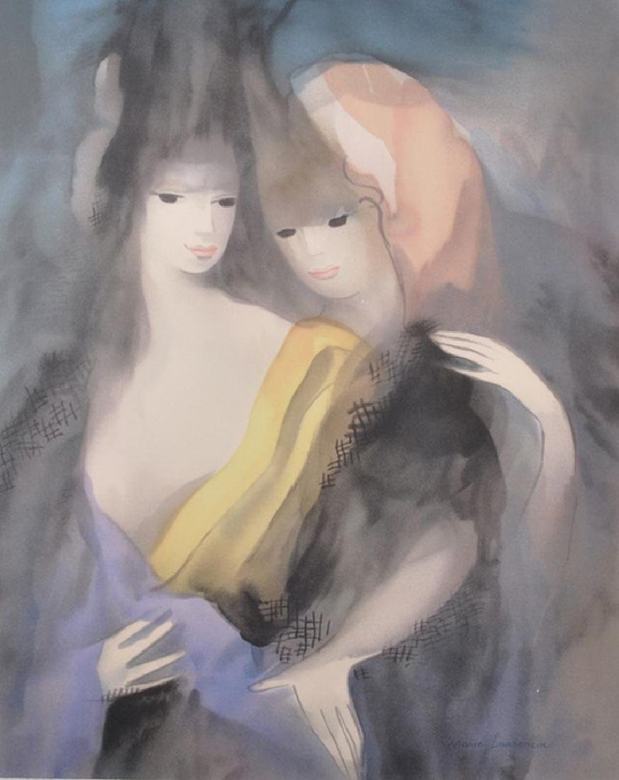 After Marie Laurencin (1883-1956) French. Study of Two