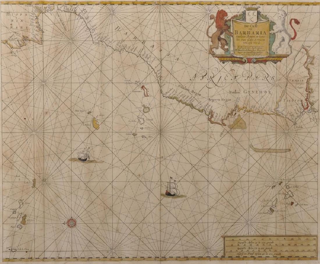 """Hendrick Doncker (1626-1699) Dutch. """"De Cust van"""