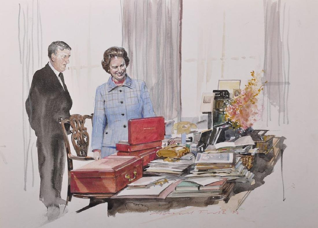 Michael Frith (1951    ) British. A Sketch of the Queen