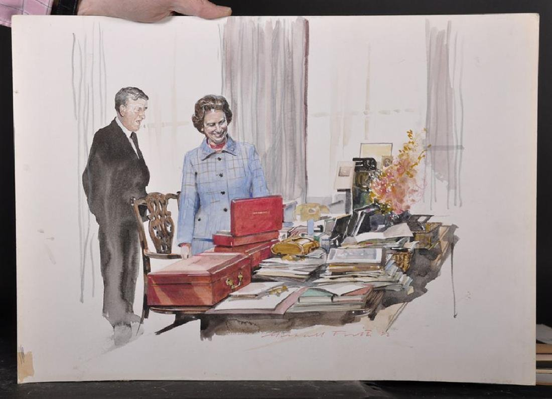 Michael Frith (1951    ) British. A Sketch of the Queen - 2