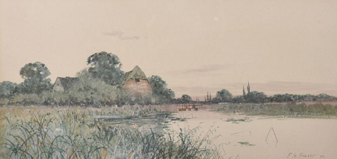 Francis Gordon Fraser (1879-1931) British. A River