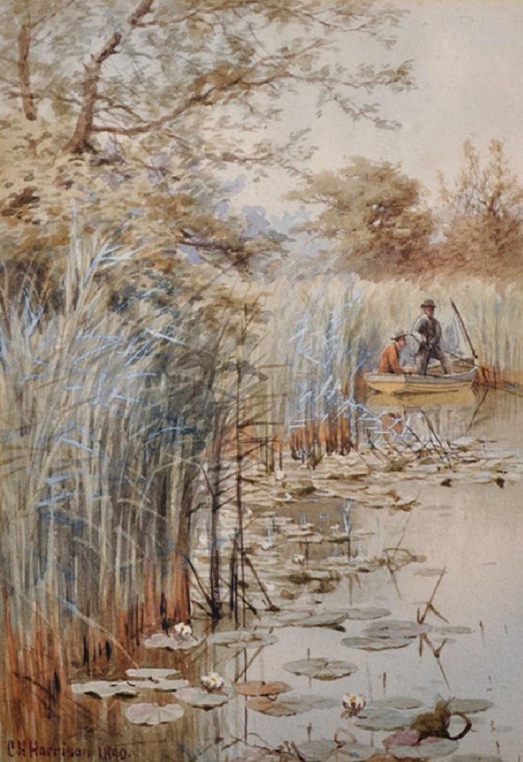 Charles Harmony Harrison (1842-1902) British. A River