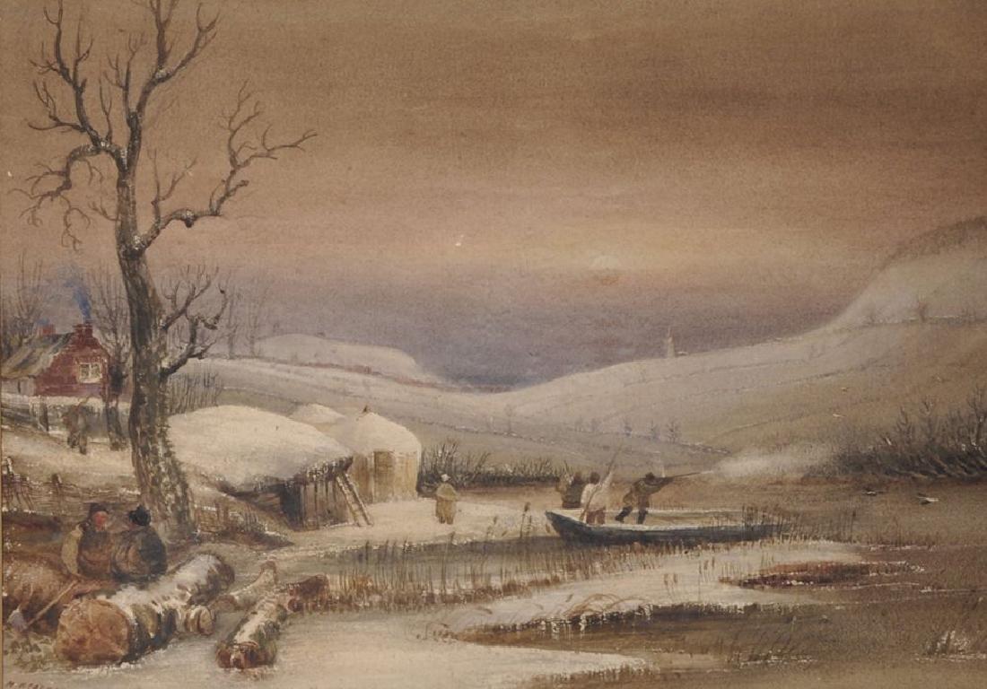 Henry Barlow Carter (1803-1867) British. Duck Flighting