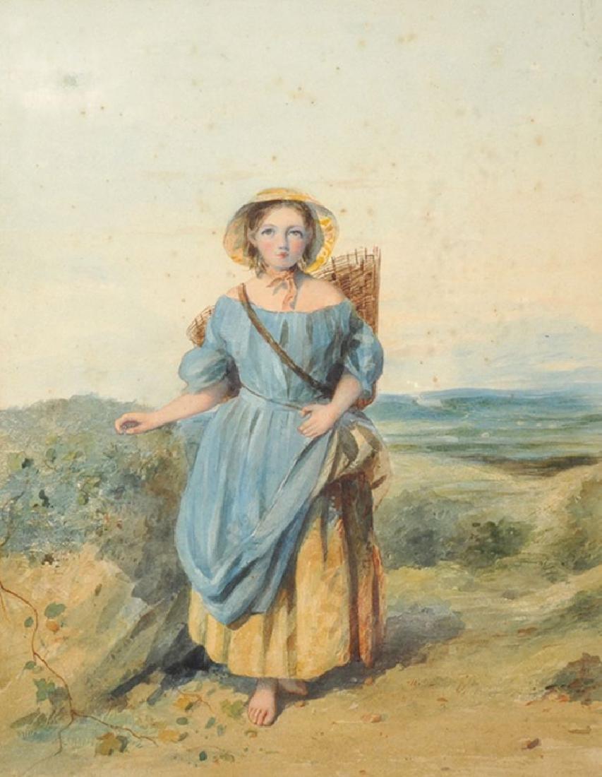 William Cruickshank (1848-1922) British.  A Girl
