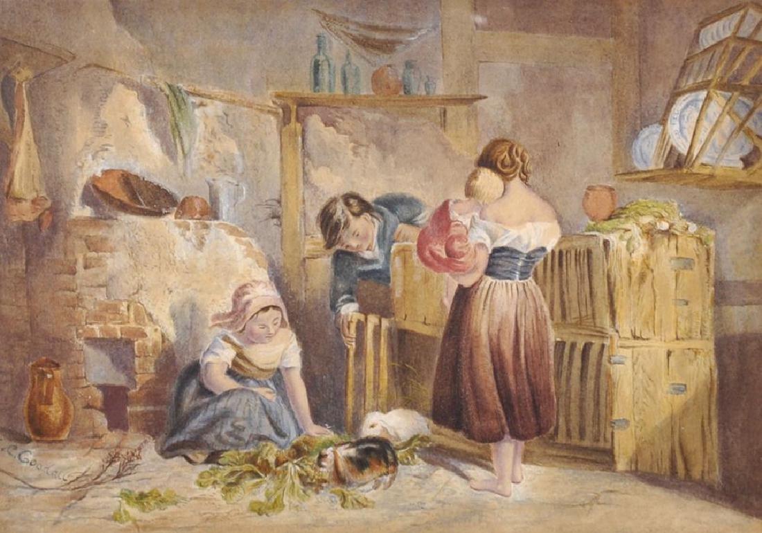 E...C...Goodall (19th-20th Century) British. An