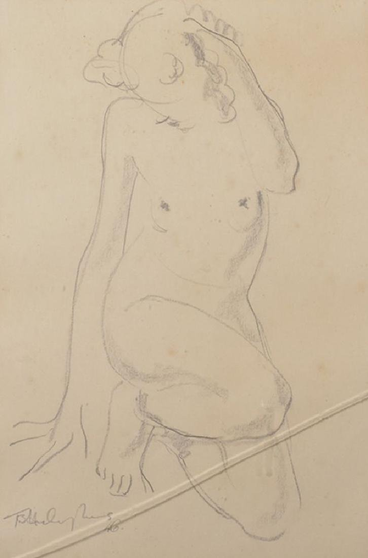 20th Century English School. Study of a Naked Lady