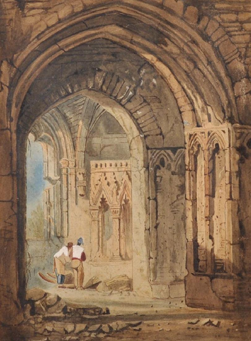 Circle of John Skinner Prout (1806-1876) British.
