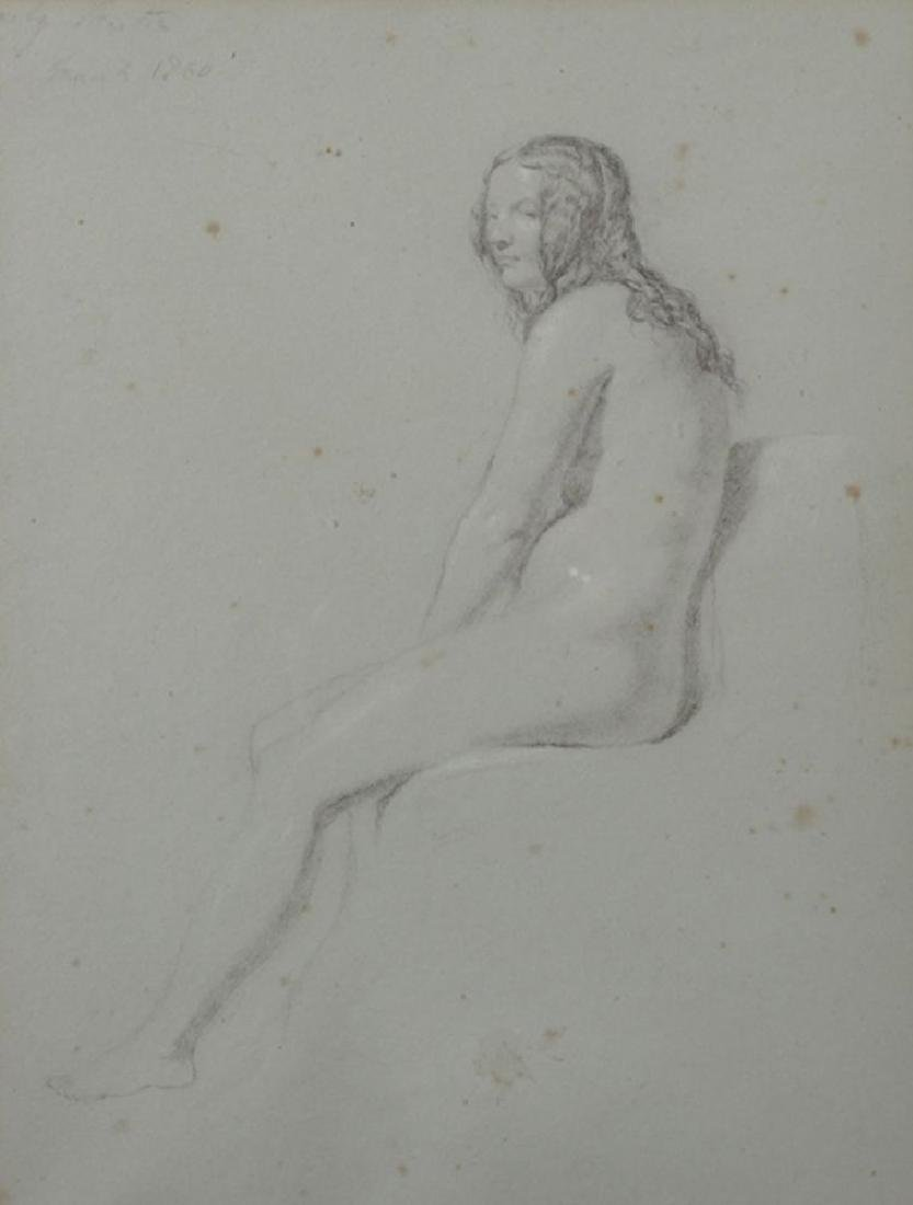 19th Century English School.  Study of a Female Nude,