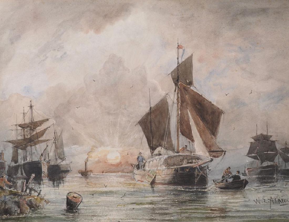 William Edward Atkins (1842-1910) British. Fishing