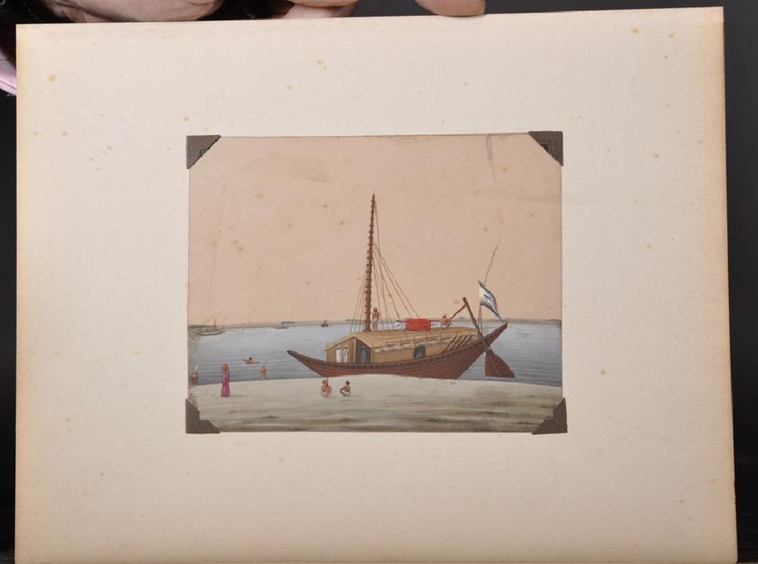 20th Century Indian School. A Junk Trading Boat sailing - 3