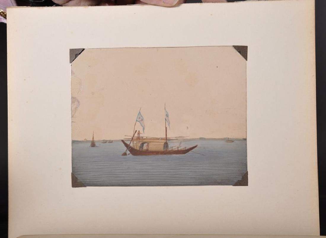 20th Century Indian School. A Junk Trading Boat sailing - 5