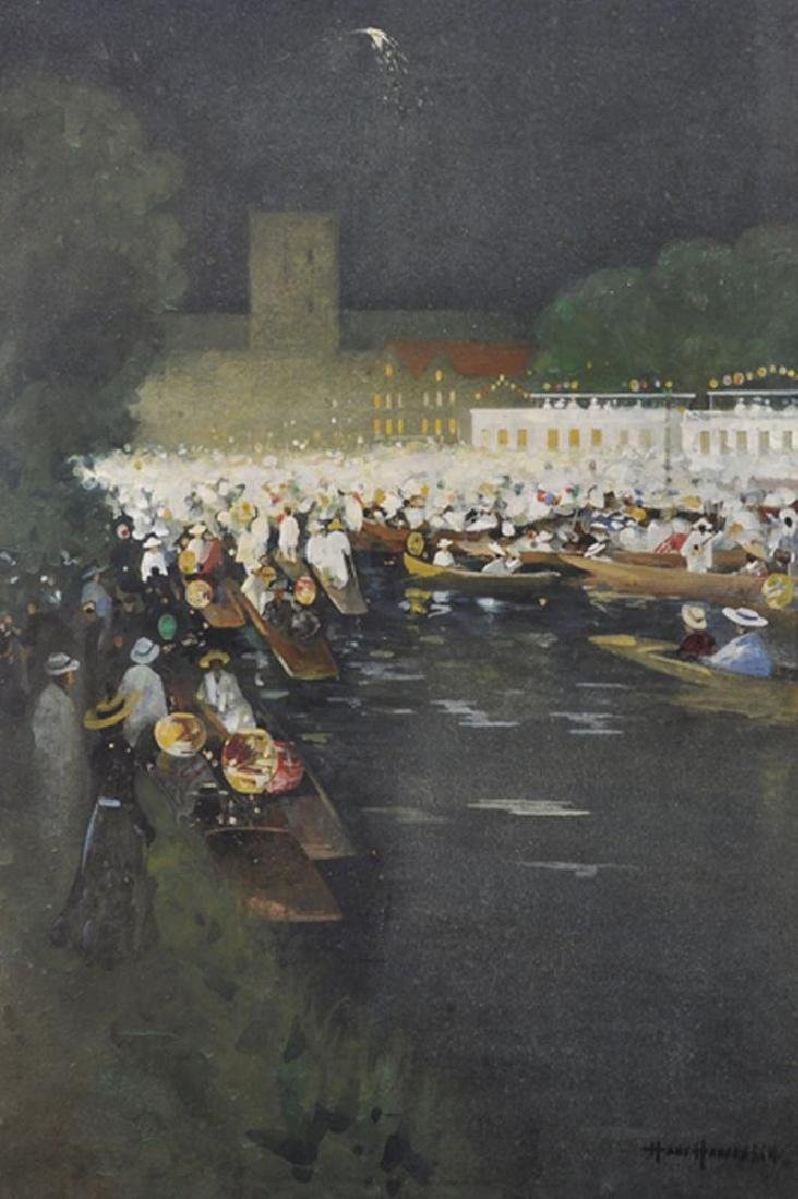 """Hans Hansen (1853-1947) British. """"Henley Regatta"""", An"""