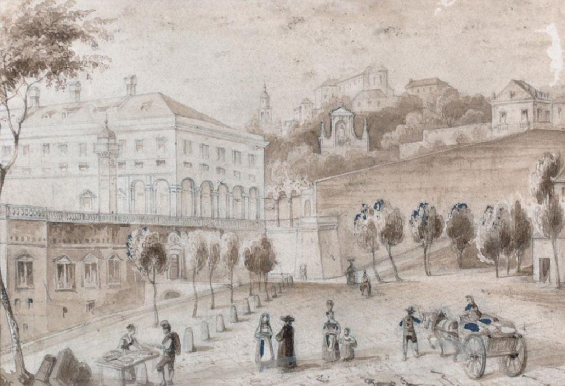 "19th Century French School. ""Palais Doria"", with"