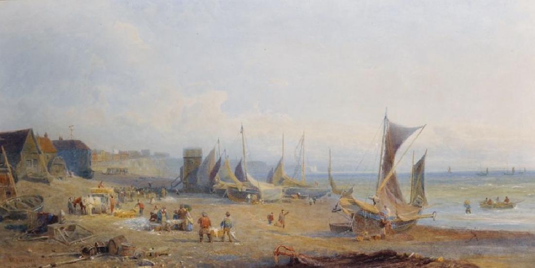 """Henry George Hine (1811-1895) British. """"Brighton (Fish"""