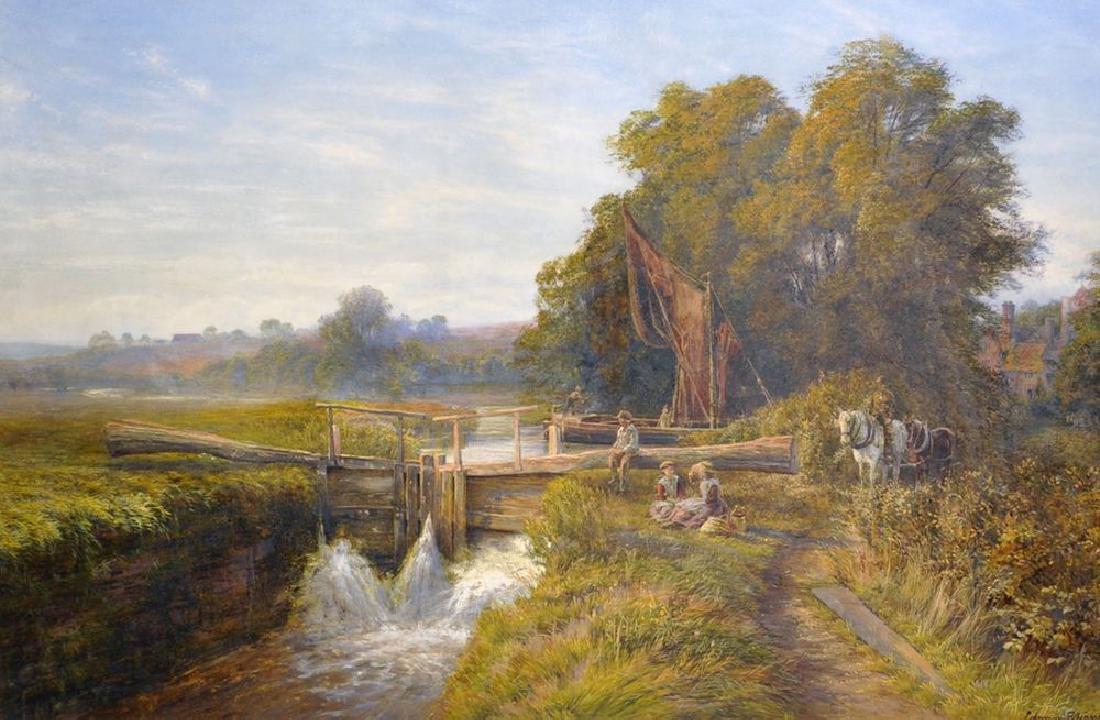 Edmund George Warren (1834-1909) British. 'A Picnic by