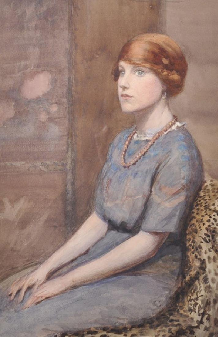 Ethel Badcock (19th-20th Century) British. Portrait of