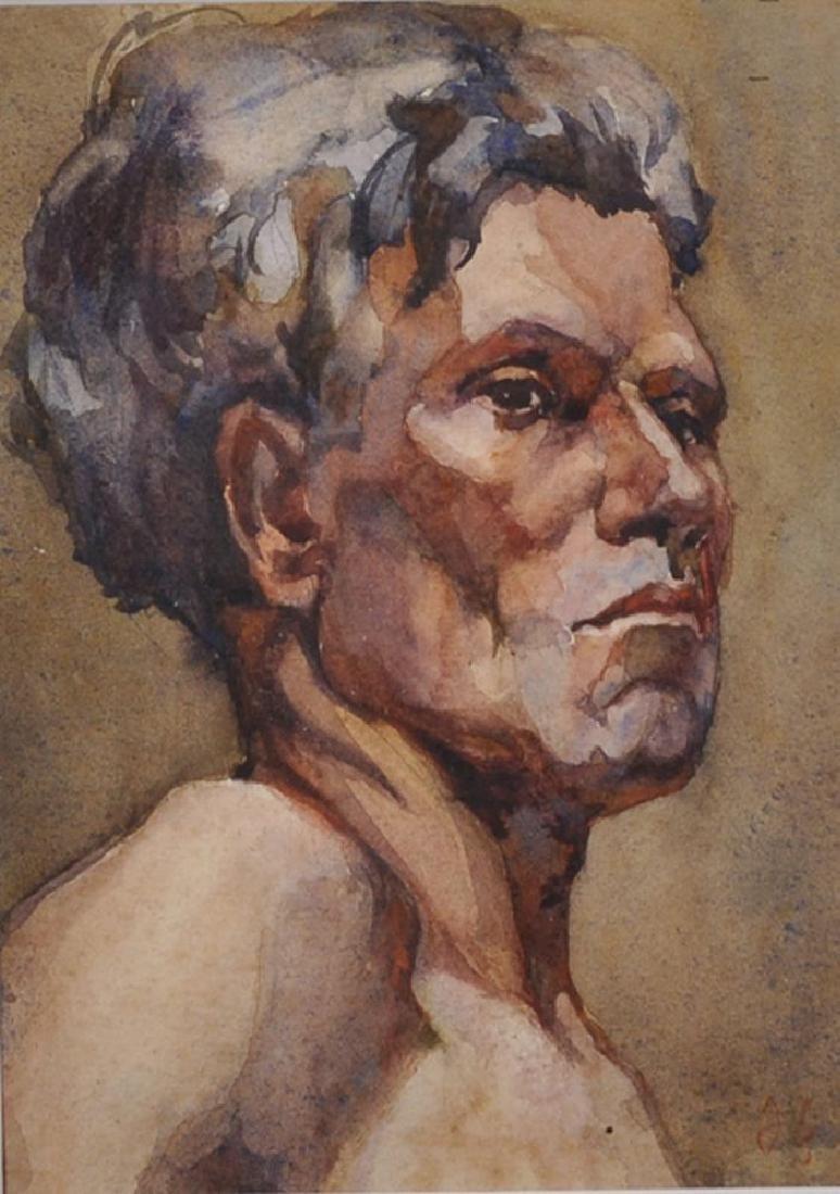 Circle of Duncan Grant (1885-1978) British. Head Study