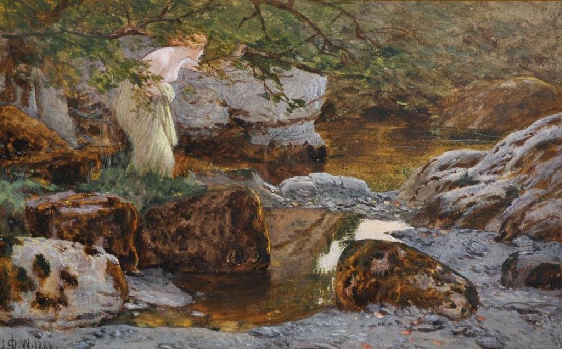 "John Dawson Watson (1832-1892) British. ""A Pool at the"