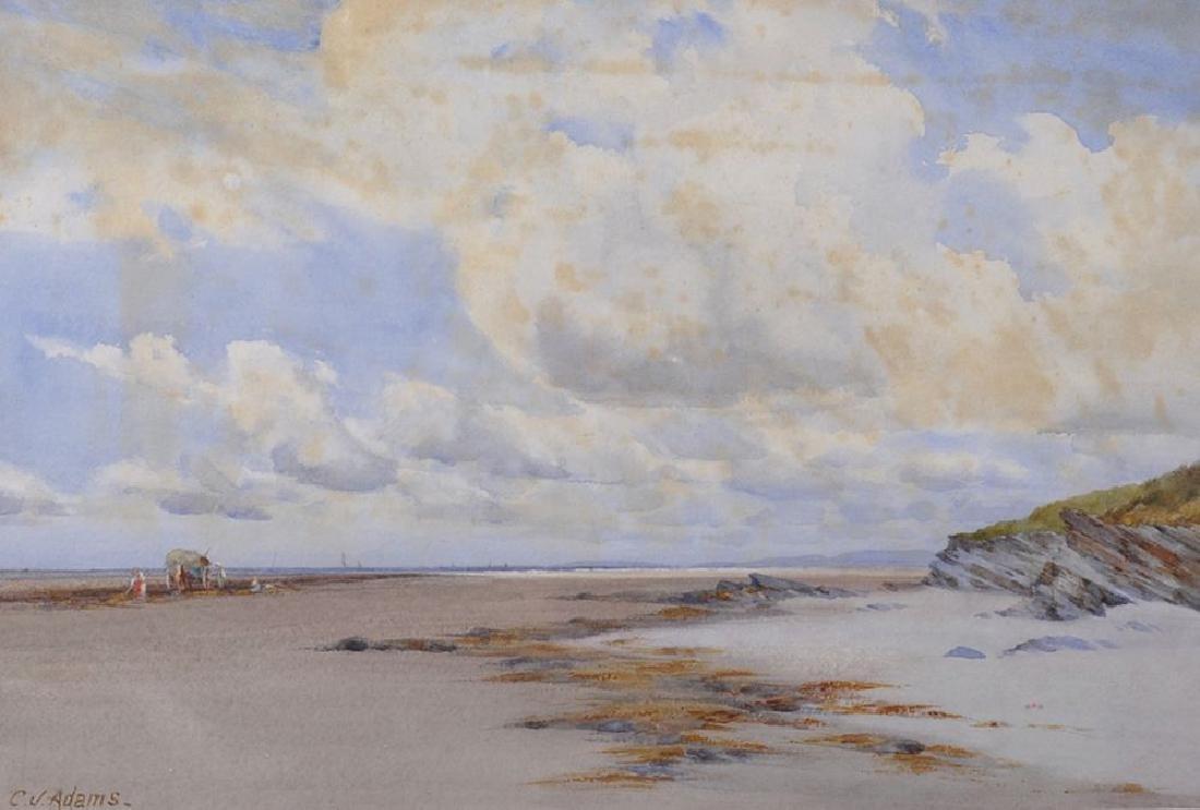 "Charles James Adams (1859-1931) British. ""Low Tide"