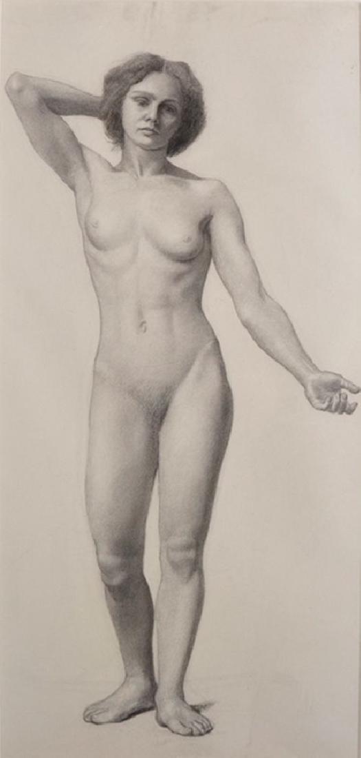 Estella Canziani (1887-1964) British. A Standing Nude