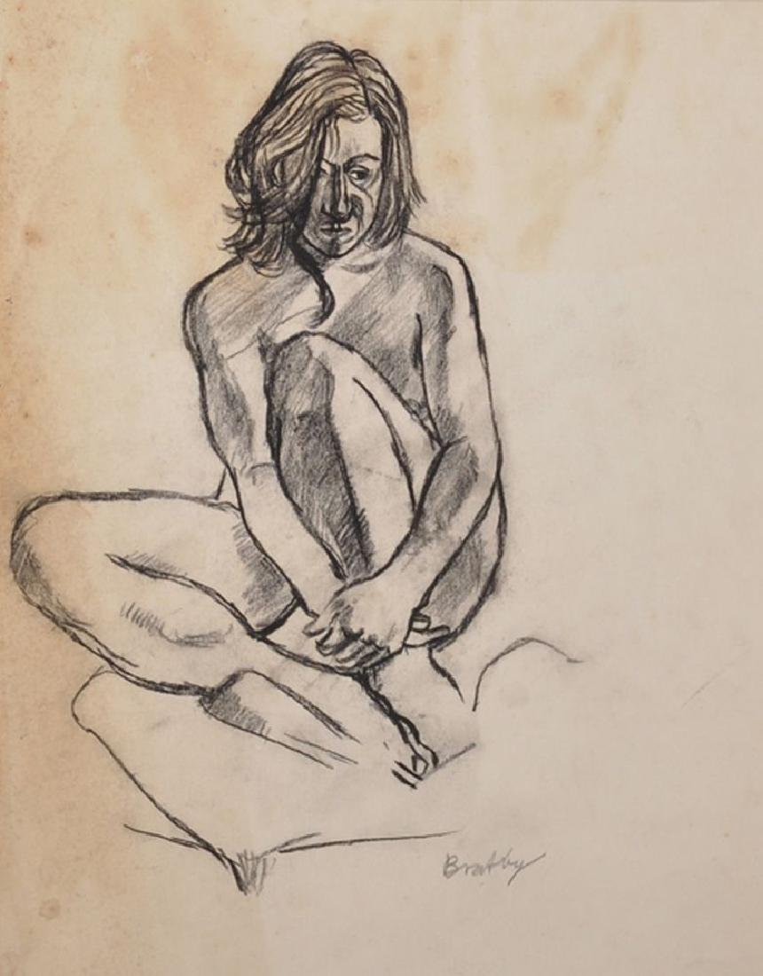 "John Randall Bratby (1928-1992) British. ""Jean"", Study"