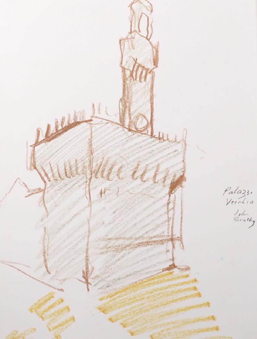 """John Randall Bratby (1928-1992) British. """"Palazzo"""