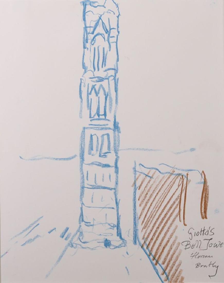 "John Randall Bratby (1928-1992) British. ""Giotto's Bell"