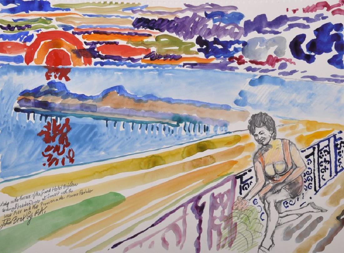 "John Randall Bratby (1928-1992) British. ""Lady on the"