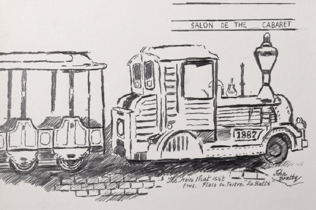 "John Randall Bratby (1928-1992) British. ""The Train"