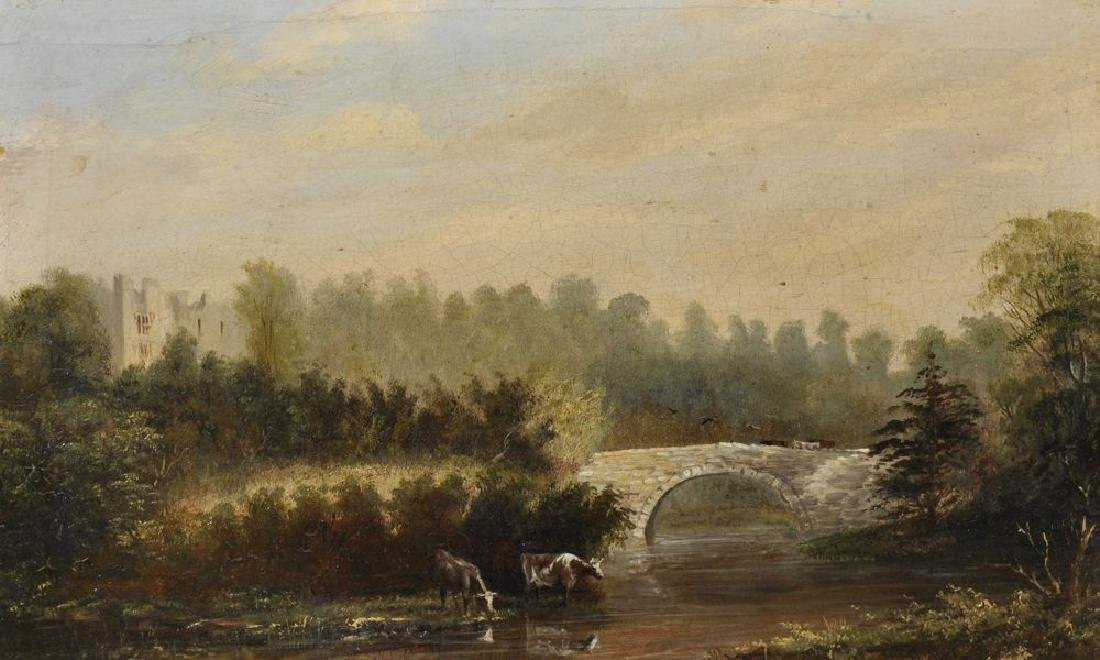 19th Century English School. A River Landscape with