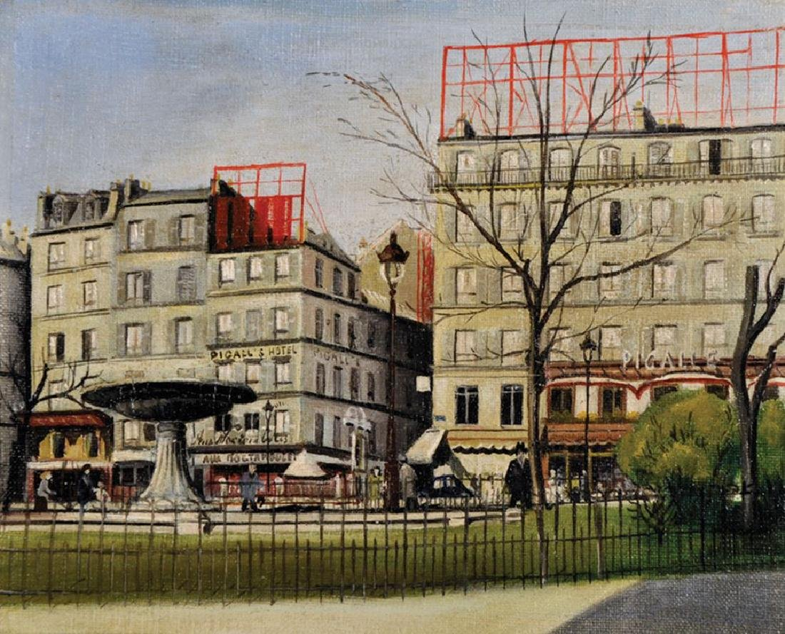 G... Palazo (20th Century) French. 'Place Pigalle,