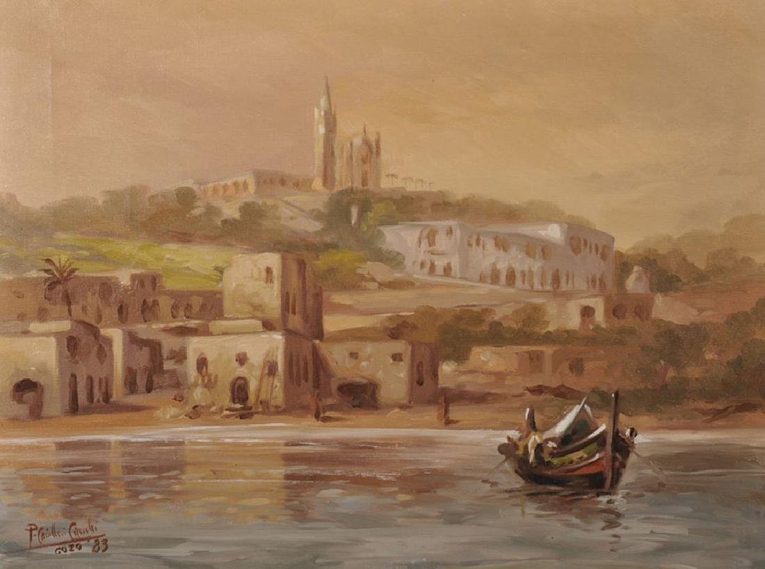 20th Century Maltese School. A Coastal Scene at Gozo,