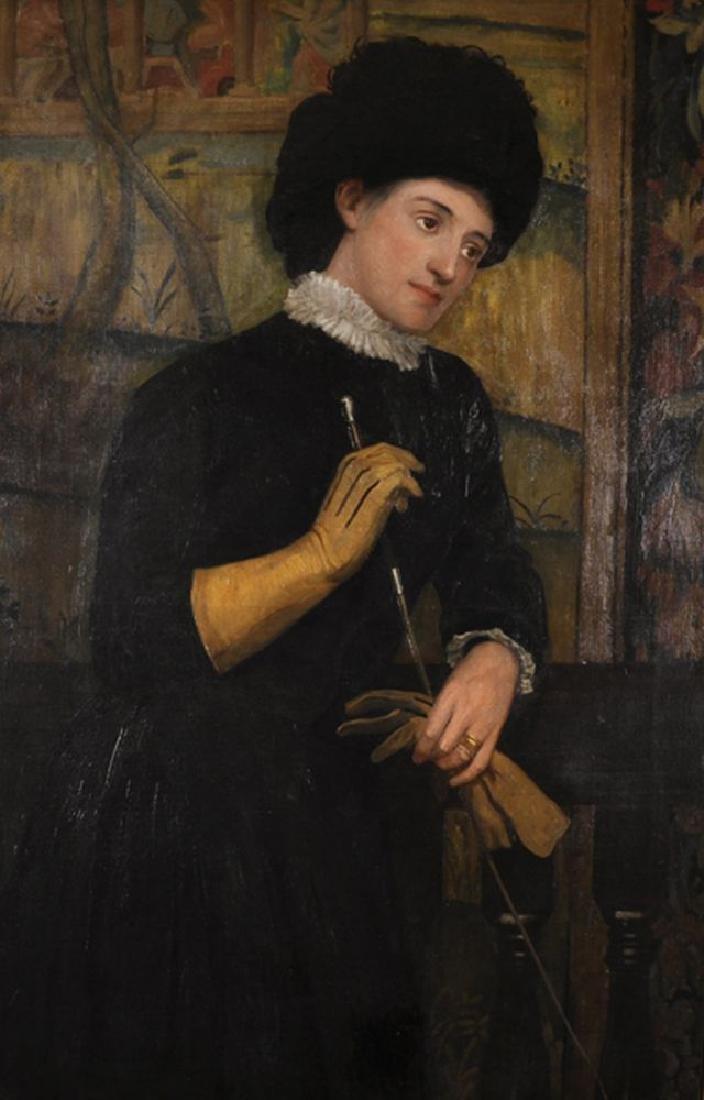 """Matthew Ridley Corbet (1850-1902) British. """"Portrait of"""