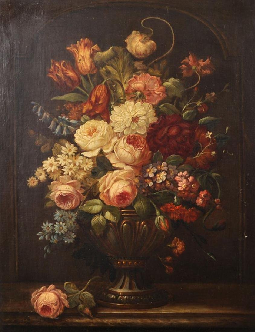 19th Century Dutch School. Still Life with Flowers in