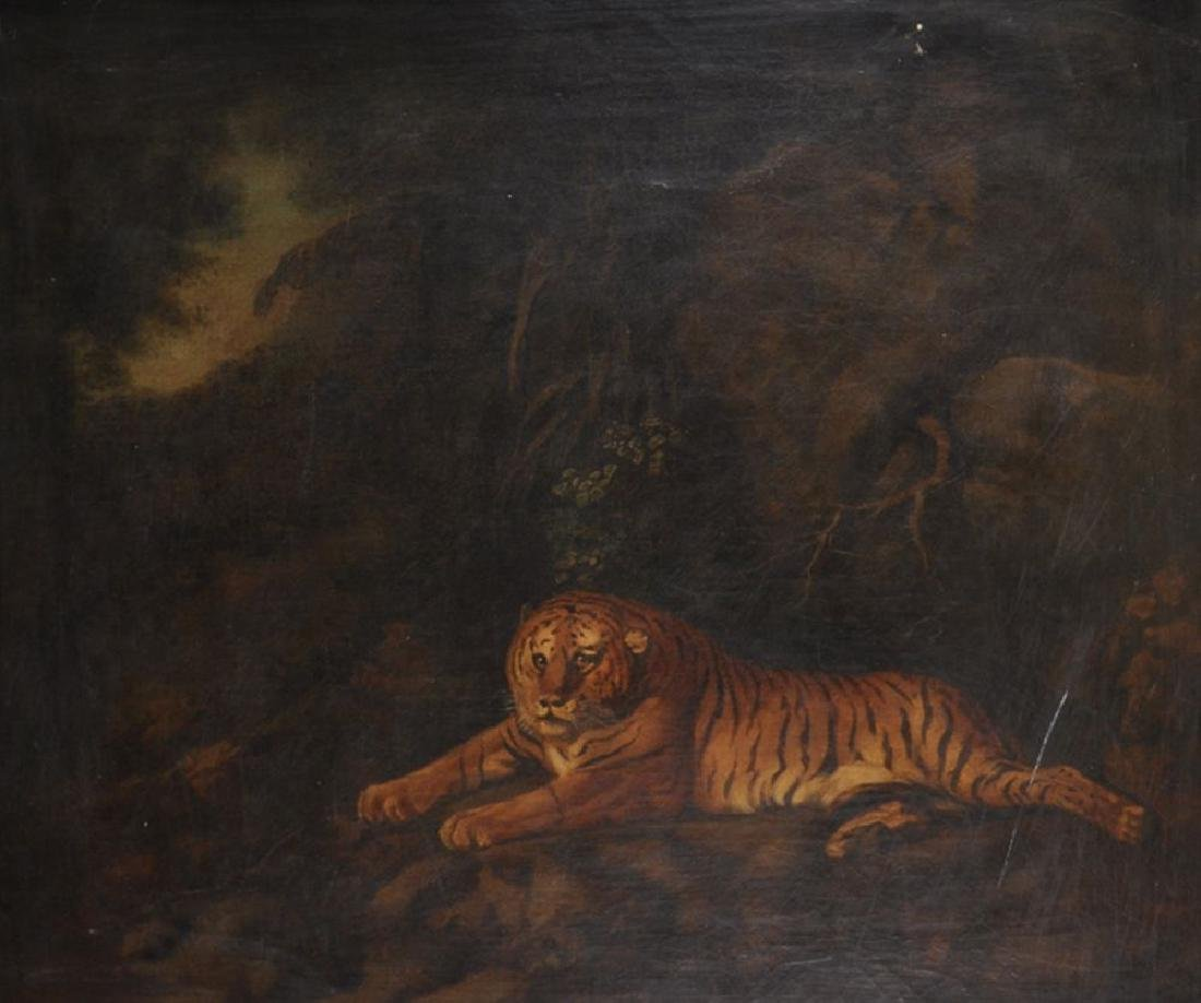 "After George Stubbs (1724-1806) British. ""Tiger"", Oil"