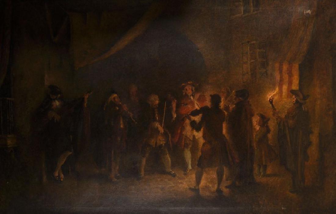 Scheurich (19th Century) Continental. A Musical Recital