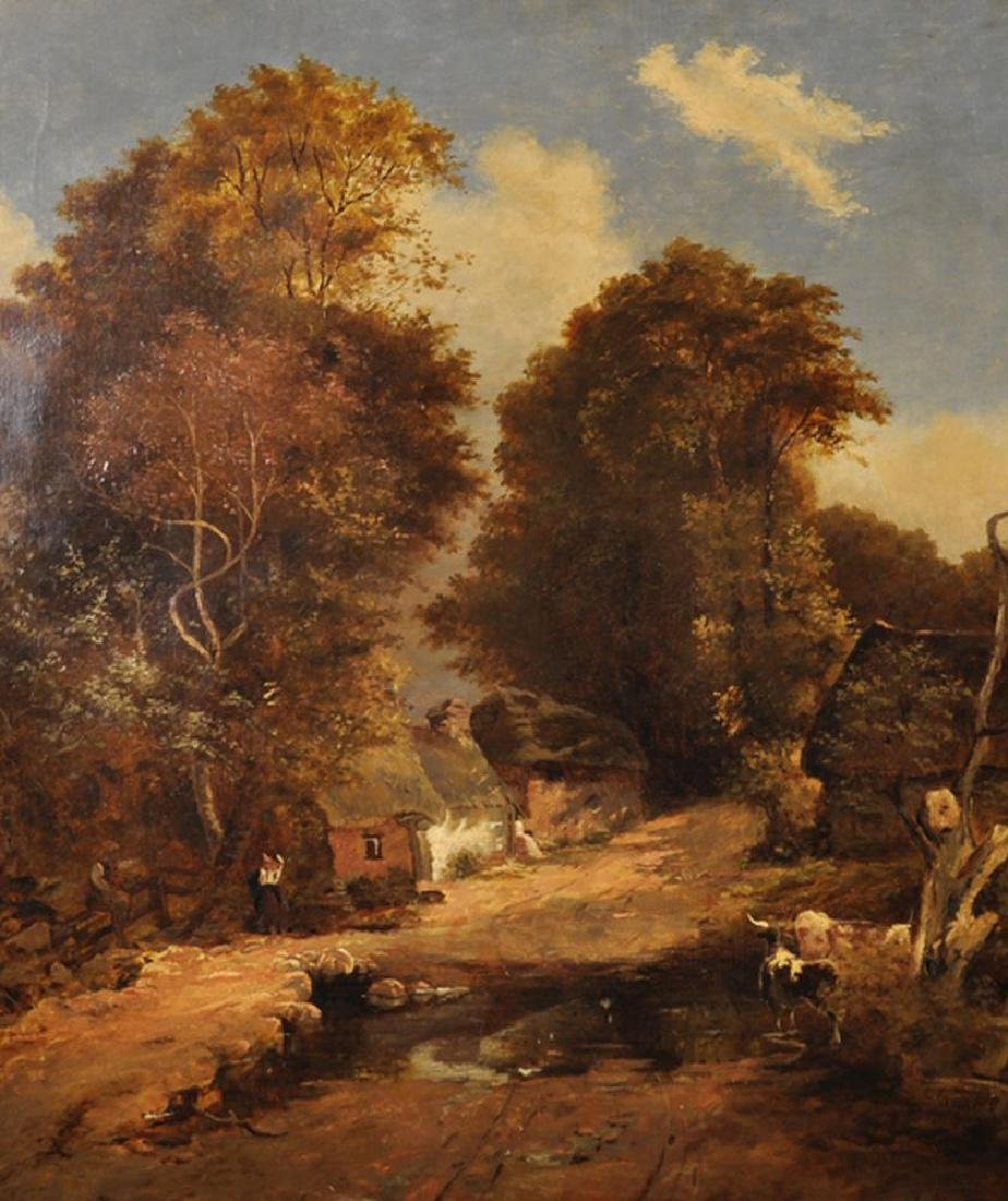 19th Century English School. A Country Landscape with