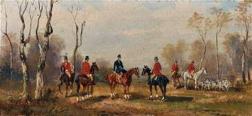 Robert Stone 18201870 British A Hunting Scene Oil